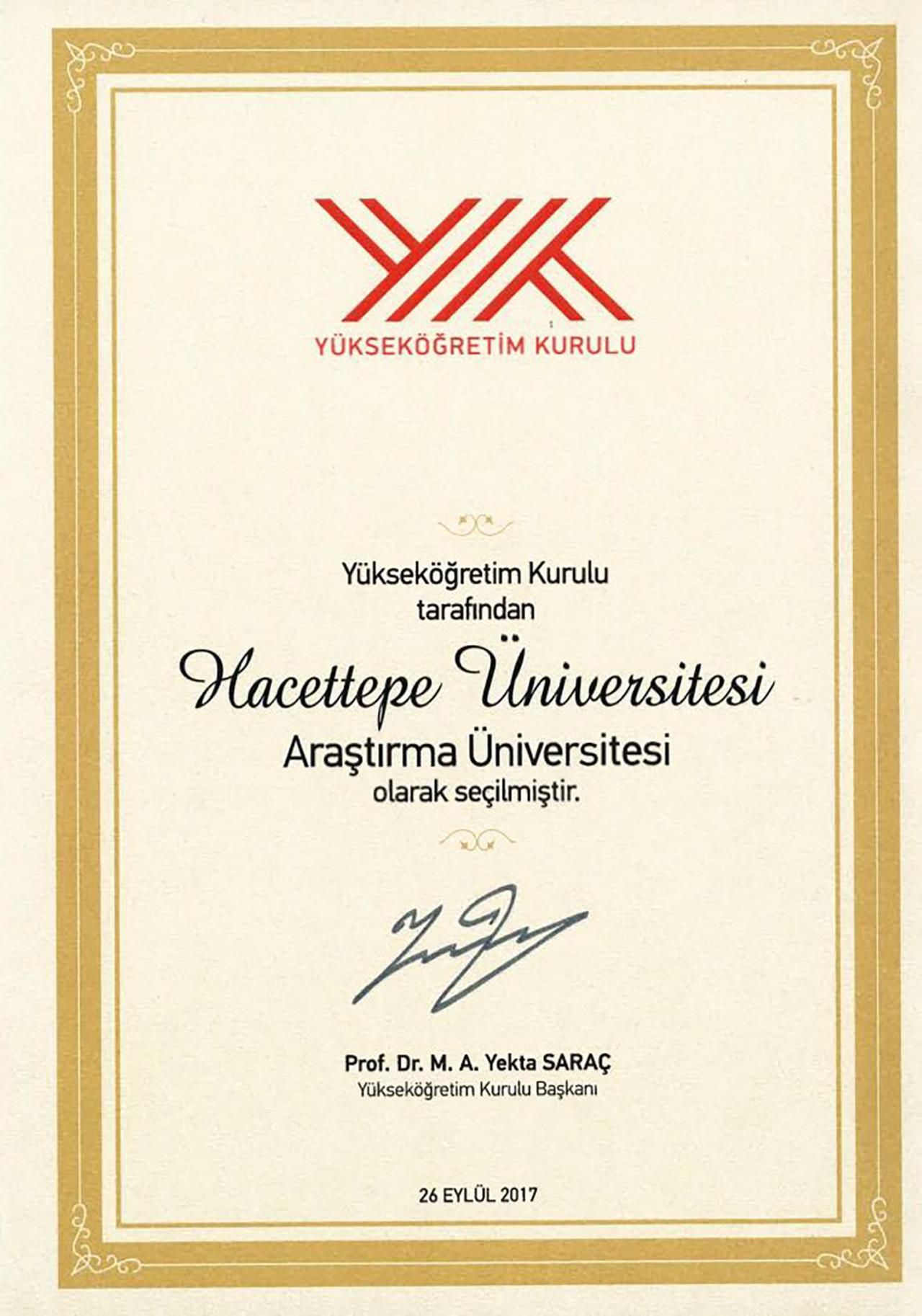 Üniversitemizi Tebrik Ediyoruz